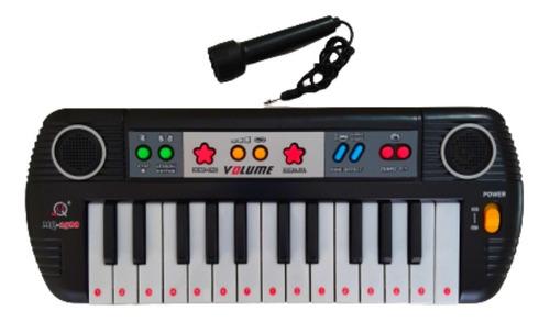 Teclado Infantil Musical 25 Teclas Keys Com Microfone Piano