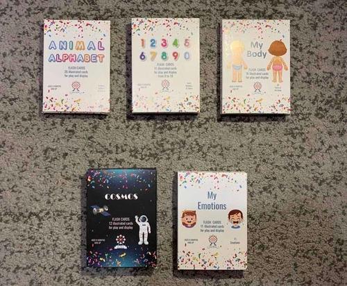 Doman Fase 1,fase 2,fase 3, Matemáticas,5 Mazos Flash Cards