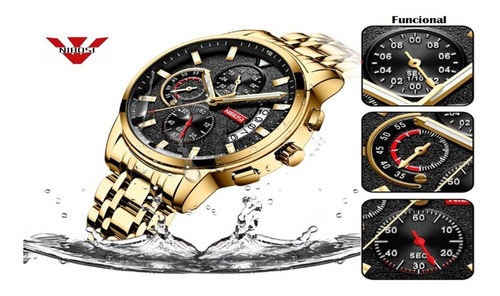 Relógio Nibosi Quartzo Masculino Modelo 2358 Lançamento