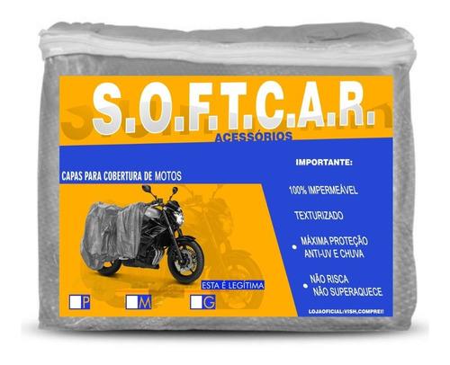 Capa Cobrir Moto Proteção Sol Chuva Forrada Impermeável