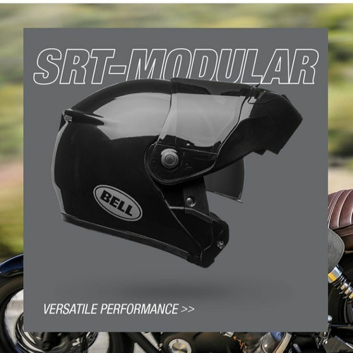 Capacete Bell Srt Modular Solid Gloss Brinde Exclusivo