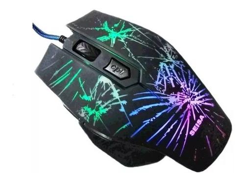 Mouse De Juego Seisa Dn-c543 Negro