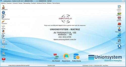Software Erp - Sistema Para Gestão Empresarial (unionsystem)