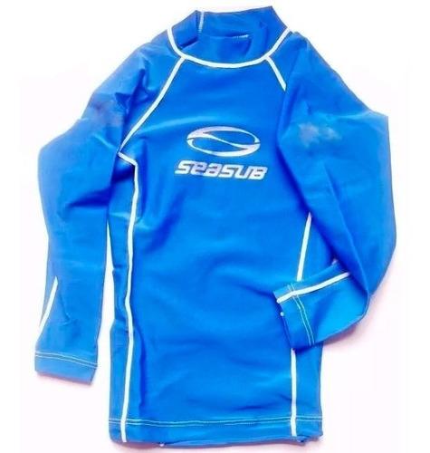 Camisa Infantil Lycra Mergulho Natação Pesca Proteção Uv 50