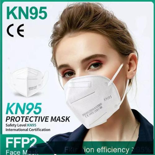50 Máscaras Kn95 Proteção 5 Camada Respiratória Pff2 3d Kn95