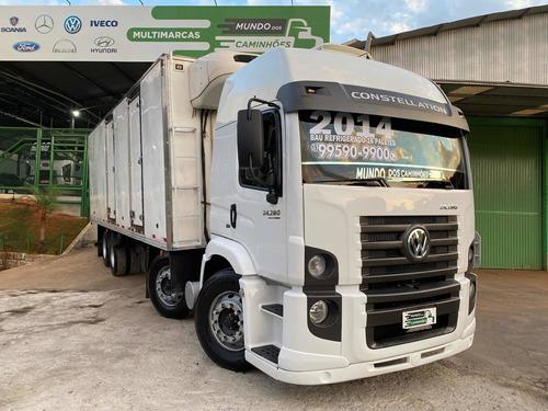 Caminhão Vw 24280 Bitruck Baú Refrigerado 16 Paletes