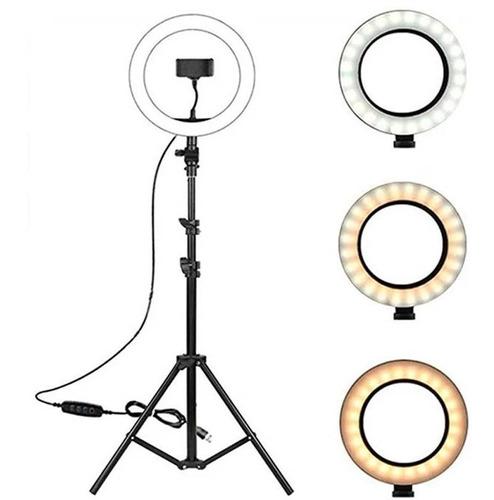 Ring Light Led Iluminador 26cm Completo Tripe 2m + Adaptador
