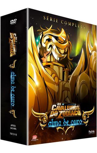 Dvd  Cavaleiros Do Zodiaco Alma De Ouro Original