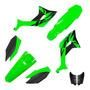 Kit Roupa Carenagem Biker Evo Crf 250f Verde Com Adesivos