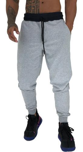Calça Moletom Masculina Jogger Treino Slim Camuflada Swag
