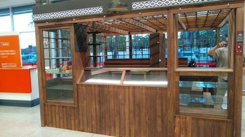 Gondola Isla Local Ideal Shopping Galerias Comercial Madera