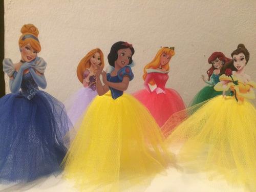 10 Tubetes Tule - Princesas Da Disney No Tule