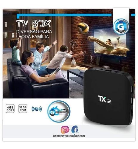 Tv Box Tanix Tx2 Padrão 4k 32gb Preto Com Memória Ram De 4gb