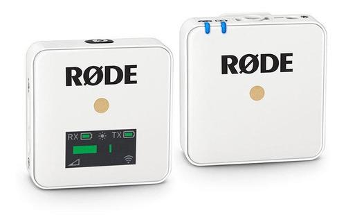 Microfone Sem Fio Rode Wireless Go Condensador  Omnidirecional Branco