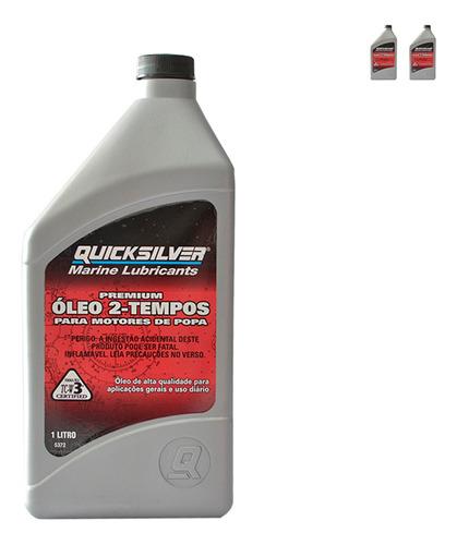 Lubrificante Quicksilver Tcw3 2 Tempos 1 Litro Kit C/2