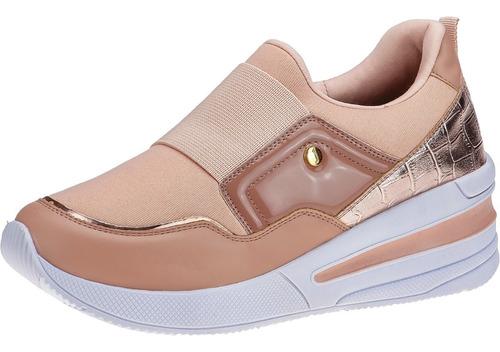 Tenis Sneaker Feminino Salto Anabela Plataforma Macio