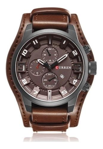 Relógio Curren 8225 Social Luxo Esportivo  Couro Promoção Nf