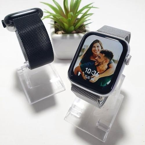 Smartwatch Iwo W46 Original Com 3 Pulseiras + Aço E Capinha