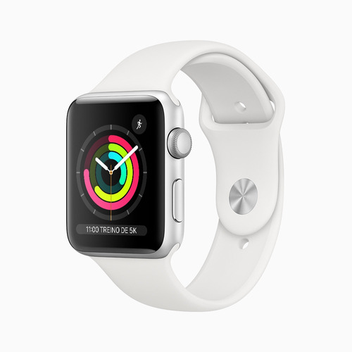 Apple Watch Series 3 (gps) 42mm Pulseira Esportiva Branca