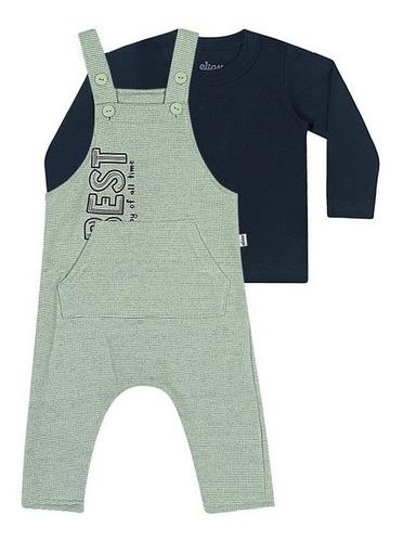 Conjunto Masculino Infantil Camiseta/jardineira Elian