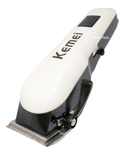 Maquina Sem Fio Super Taper Cordless Kemei Km-809a Digital