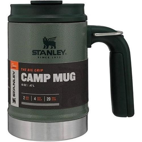 Caneca Copo Stanley Camp Mug Verde 473 Ml Com Tampa E Alca