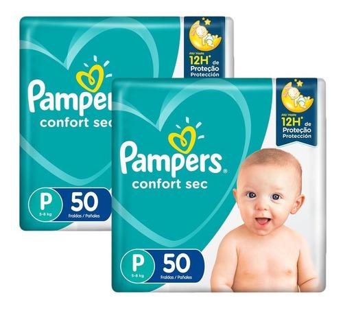 Fralda Pampers Confort Sec P Com 100 Unidades