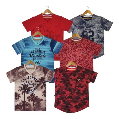 Kit 5 Camisetas Infantil E Juvenil  Lindas - Aproveite