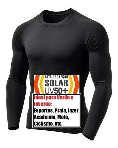 Camisa Térmica Com Proteção Solar Uv50+ Todas Ocaciões E Esportes