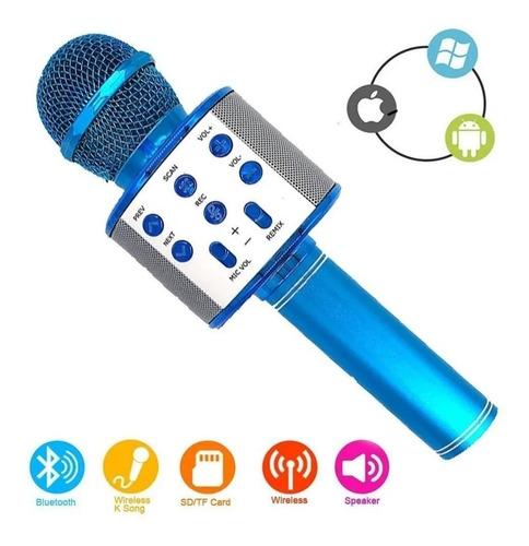 Microfone Bluetooth Karaokê Youtuber Gravador Rádio Ws-858