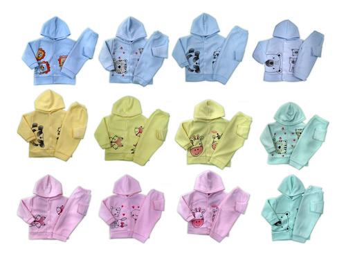 Kit 2 Conjuntos Bebê Soft Com Capuz Peluciado Inverno P Ao G