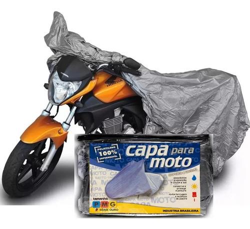 Capa P/ Cobrir Moto Proteção Sol Chuva 100% Forrada Imperm.