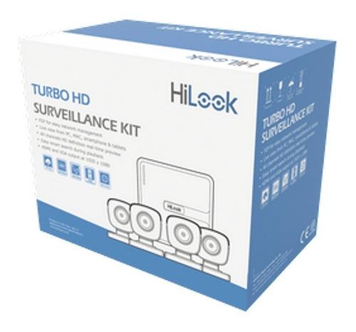 Kit Seguridad Hd Hilook Dvr 4 Canales + 4 Camaras Hd C/disco