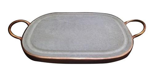 Grelha Retangular Em Pedra Sabão 20 X 30 Cm