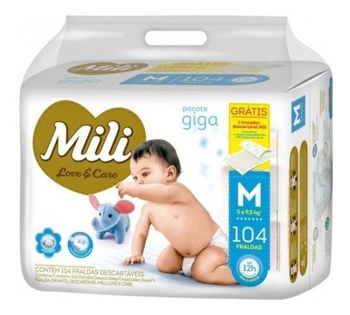Fralda Infantil Love Care Giga M 104 Unidades