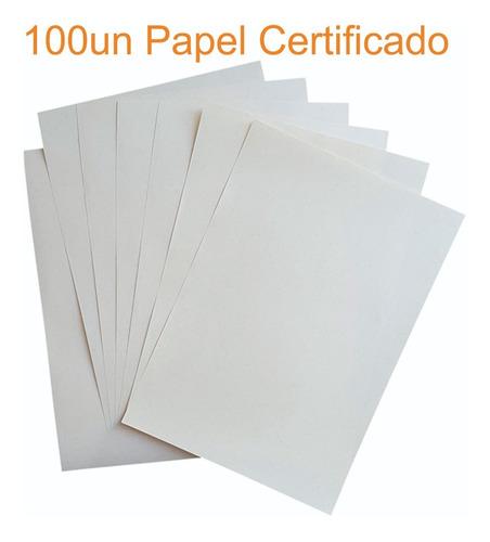 100 Folhas Papel Moeda P/ Certificado Diplomas E Documentos