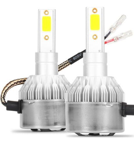 Kit Lâmpada Super Led H1 6000k Branca Efeito Xenon 6400 Lm