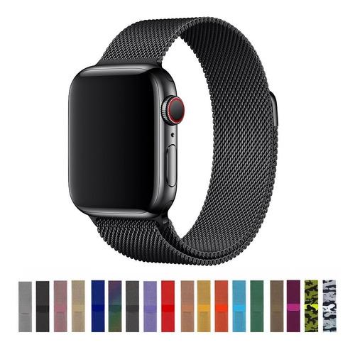 Pulseira Para Apple Watch Milanês Loop Magnética 40 44m 42mm