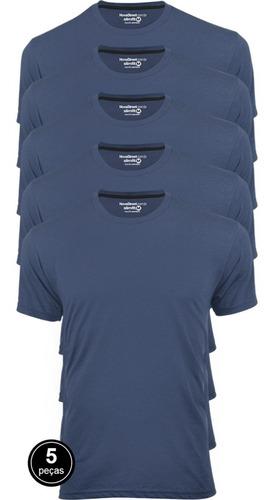 Kit 5 Camisetas Masculinas Básica Lisa Algodão 30.1 Premium