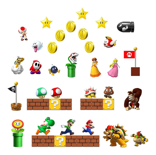 Super Mario - Imanes Para Nevera, Imanes De Oficina, Calenda