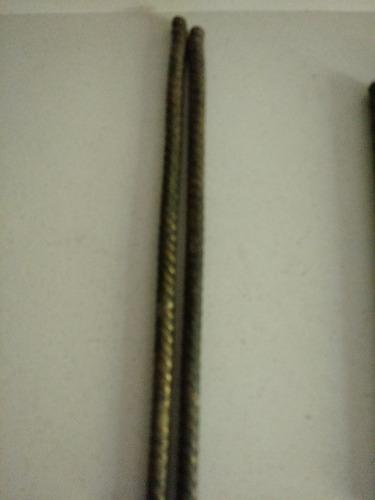 Pieza Bronce Maciza Antigua Varas 45 X 1,5 Cms