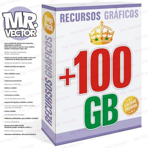 Pack De 100gb Gráficos Photoshop Illustrator Corel Vectores
