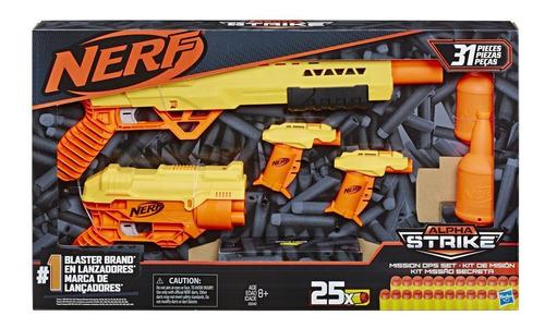 Lanzador Nerf Kit De Armas Mision Secreta Alpha Strike E8342