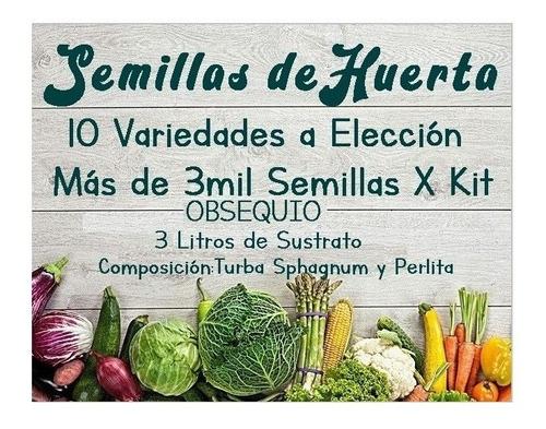 Kit De Semillas De Huerta 10 Variedades + 3000 Semillas
