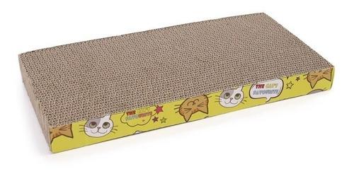 Rascador De Carton Corrugado Para Gatos + Catnip 44x12cm Rec