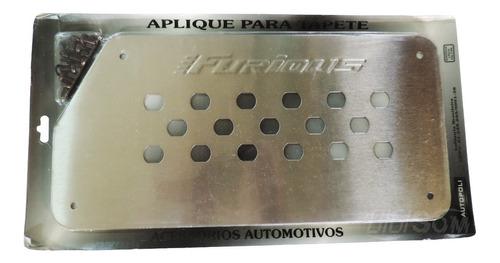 Par De Aplique De Tapete Alumínio Inox Ap115 Autopoli Original