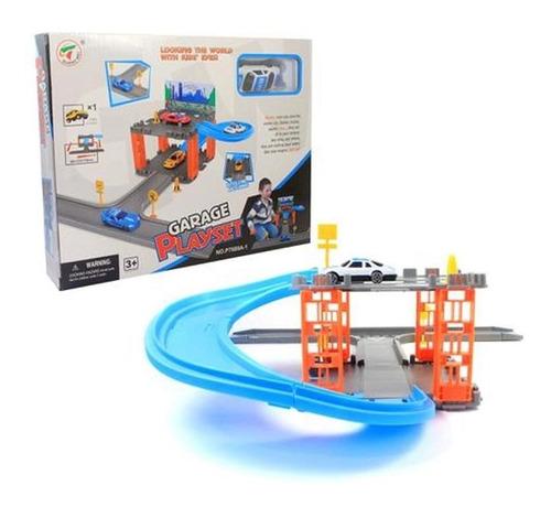 Brinquedo Pista De Carrinho Garagem Radical Com 1 Carrinho