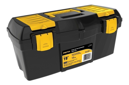 Caja De Herramientas Pretul Chp-13cp De Plástico 18cm X 33cm X 13cm Negra