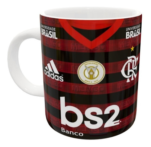 Kit 90 Caneca De Porcelana Flamengo