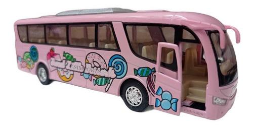 Miniatura Ônibus De Metal Abre Porta Fricção Brinquedo